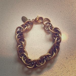 Jewelry - Rope style thick gold chain stacked bracelet